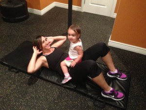 Angelena Riggs-working out with daughter
