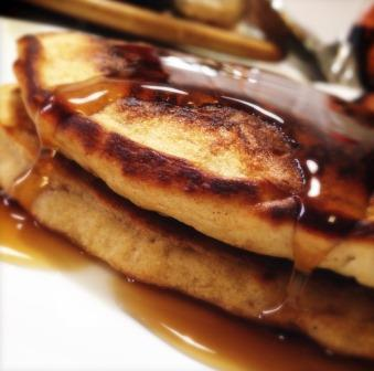 Applesauce Pancakes with Yacon Syrup-for web