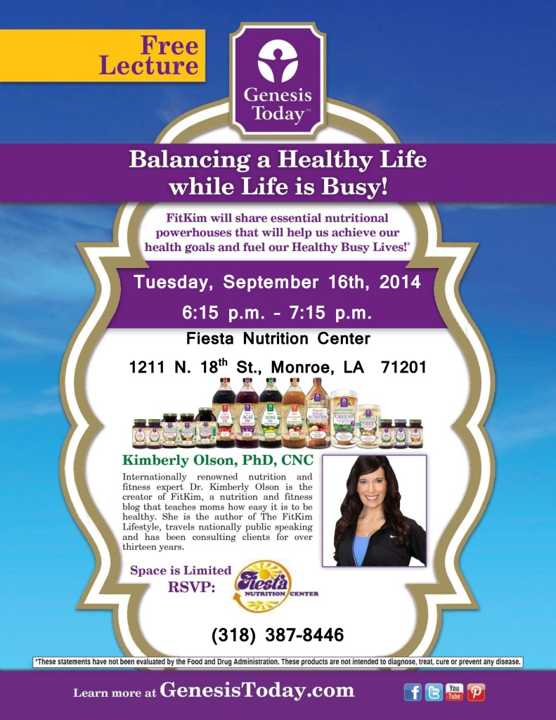 Balancing a Healthy Life while Life is Busy! @ Fiesta Nutrition Center | Monroe | Louisiana | United States