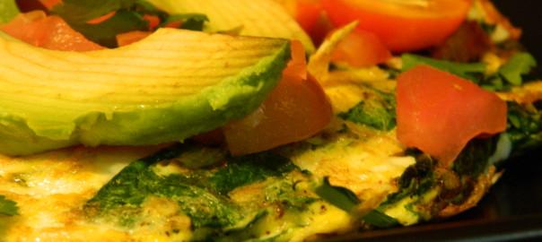 Garden Fresh Tomato & Argula Omelet-for post